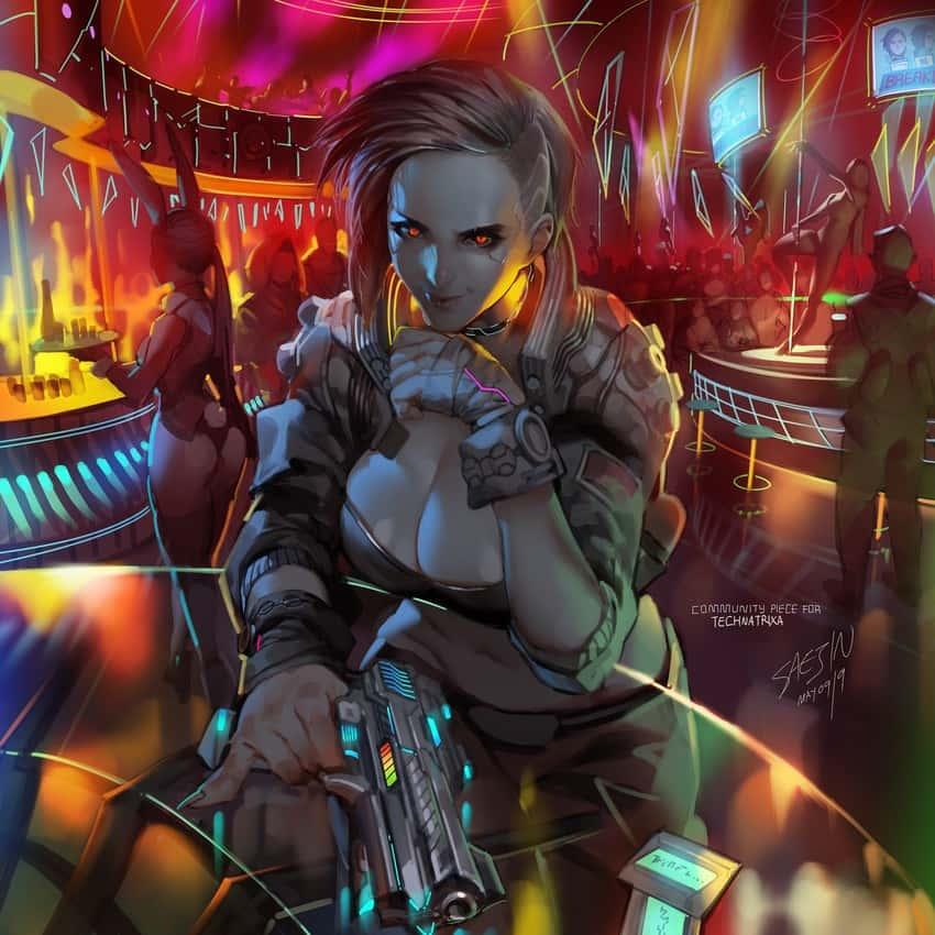 hentai cyberpunk 20771 - 【ゲーム】「サイバーパンク2077」のエロ画像:イラスト