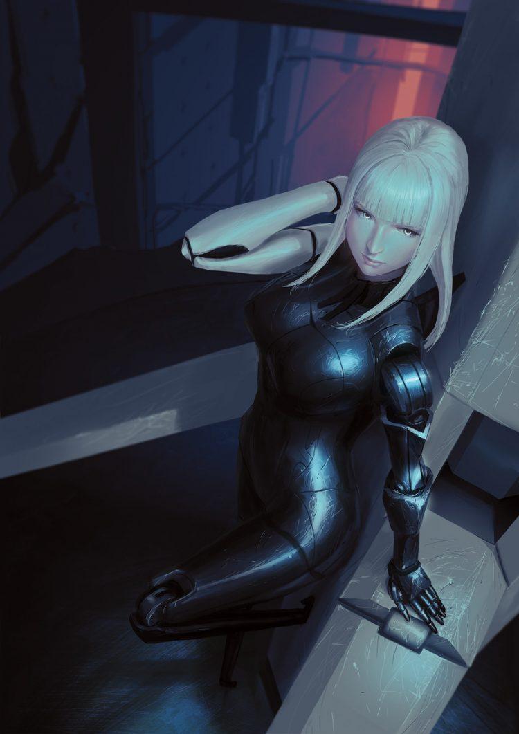 hentai cyborg Android 2 cyberpunk 14 - 【二次】サイボーグやアンドロイドのエロ画像:イラスト その10