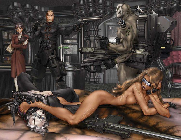 hentai cyborg Android 2 cyberpunk 23 - 【二次】サイボーグやアンドロイドのエロ画像:イラスト その10