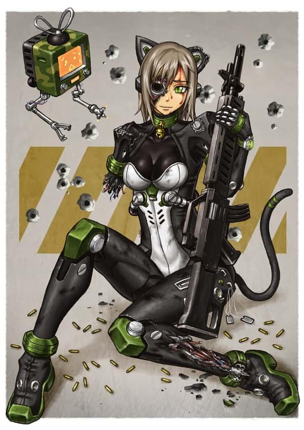 hentai cyborg Android cyberpunk 208 - 【二次】サイボーグやアンドロイドのエロ画像:イラスト その6