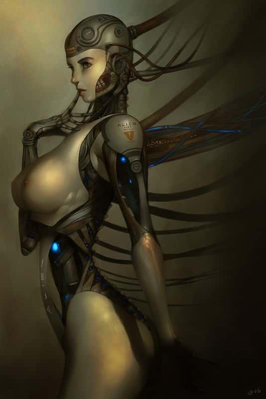 hentai cyborg Android cyberpunk 237 - 【二次】サイボーグやアンドロイドのエロ画像:イラスト その7
