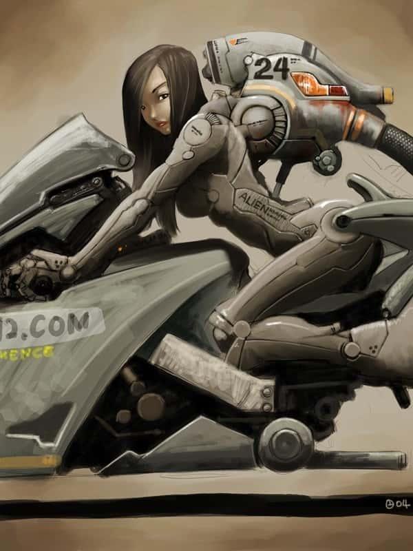 hentai cyborg Android cyberpunk 240 - 【二次】サイボーグやアンドロイドのエロ画像:イラスト その7