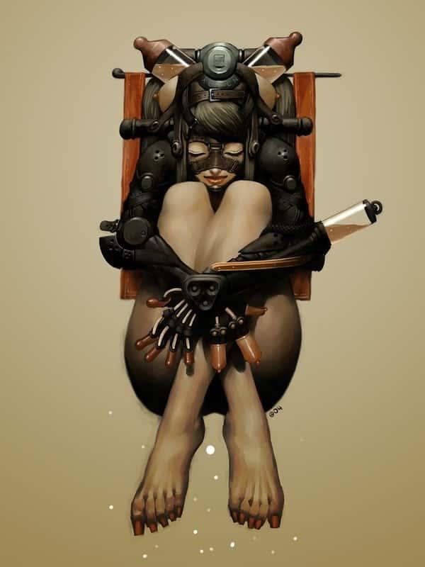 hentai cyborg Android cyberpunk 245 - 【二次】サイボーグやアンドロイドのエロ画像:イラスト その7