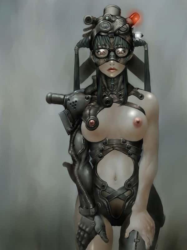 hentai cyborg Android cyberpunk 246 - 【二次】サイボーグやアンドロイドのエロ画像:イラスト その8