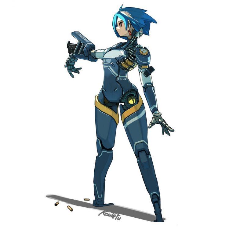hentai cyborg Android cyberpunk 26 - 【二次】サイボーグやアンドロイドのエロ画像:イラスト