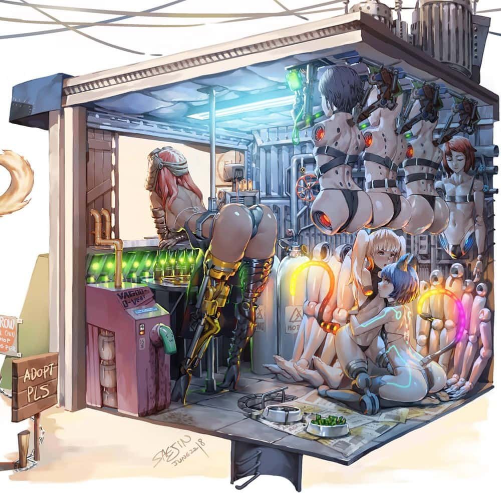 hentai cyborg Android cyberpunk 85 - 【二次】サイボーグやアンドロイドのエロ画像:イラスト その3