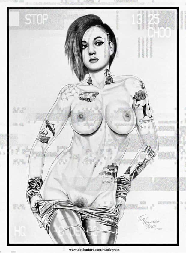 hentai judy cyberpunk 20775 - 【ゲーム】「サイバーパンク2077」のエロ画像:イラスト