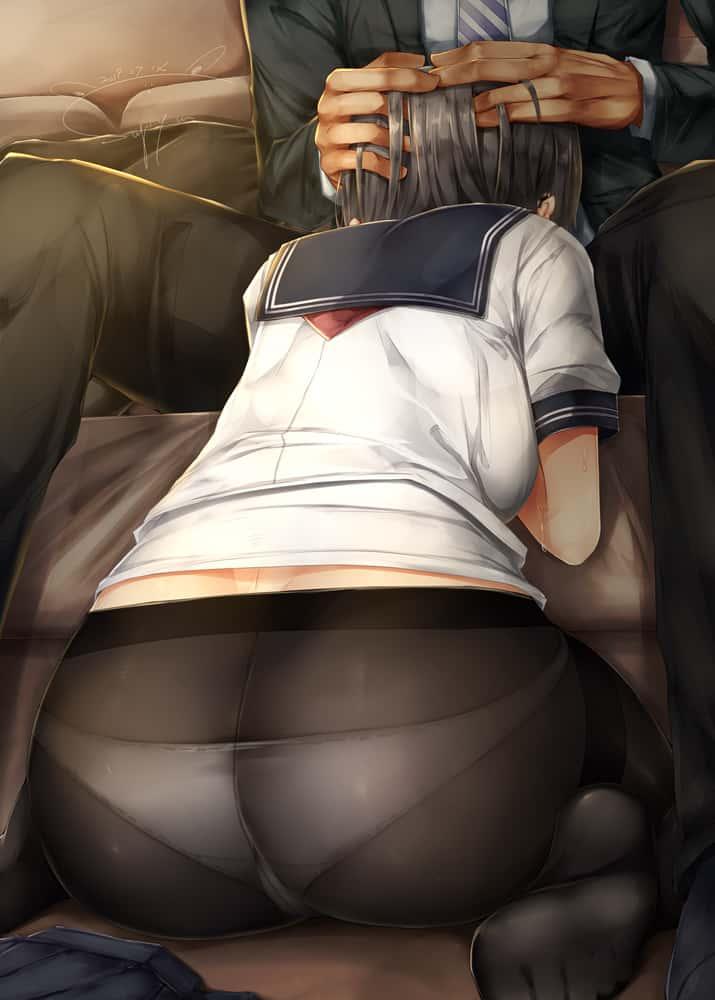 hentaim お尻美少女261 - 【フェチ】お尻に目がいく美少女のエロ画像:イラスト その8