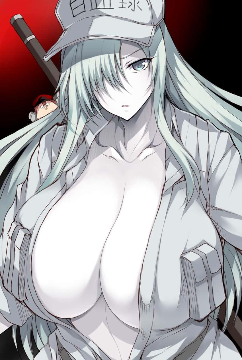 white blood cell and u 1196 hataraku saibou88 - 【はたらく細胞BLACK】白血球さんのエロ画像:イラスト その3