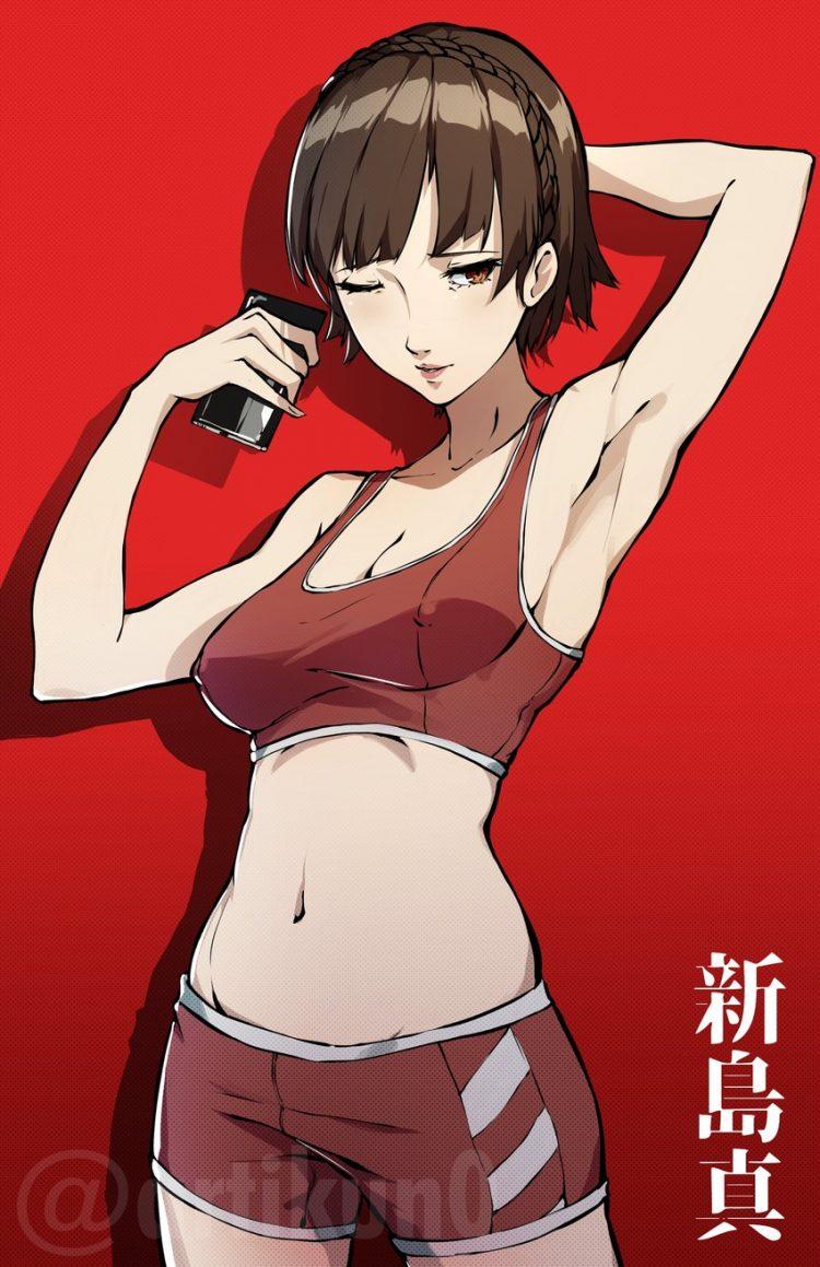 niijima makoto persona161 - 【ペルソナ5】新島真(にいじままこと)のエロ画像:イラスト その5
