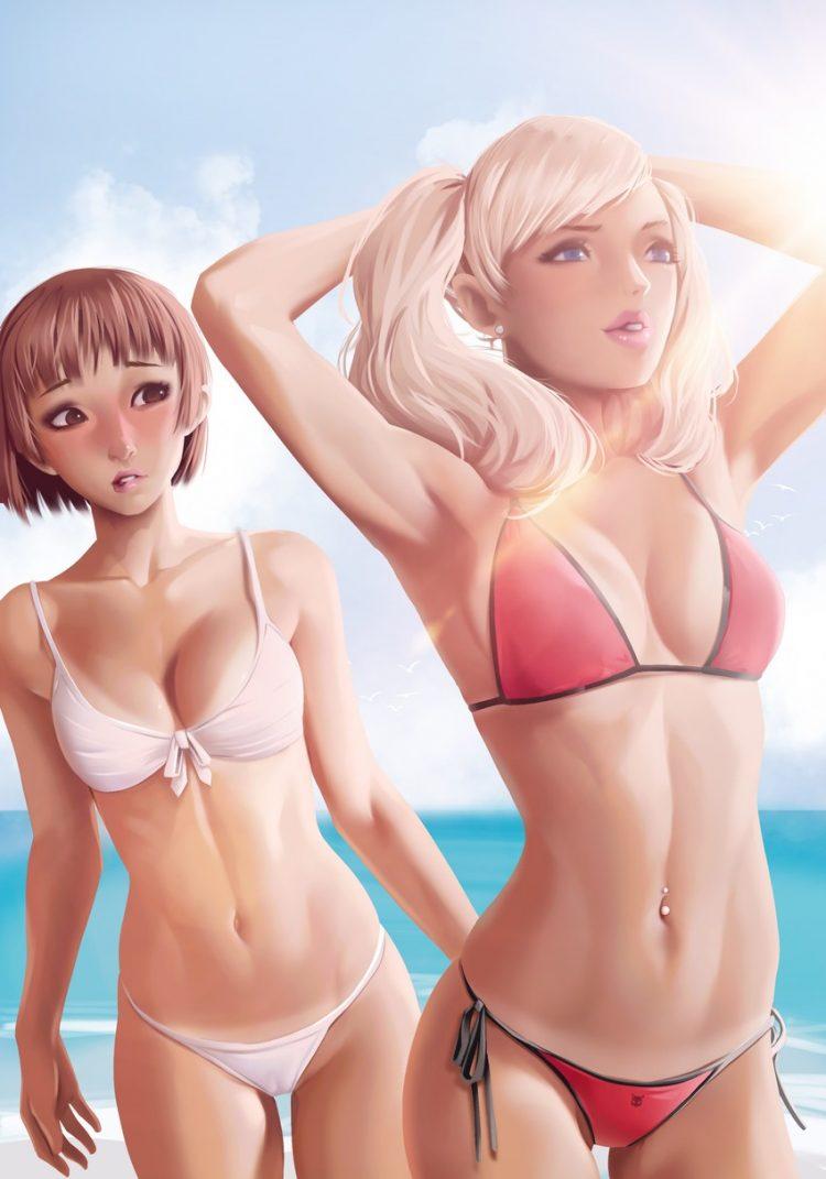 niijima makoto persona323 - 【ペルソナ5】新島真(にいじままこと)のエロ画像:イラスト その9