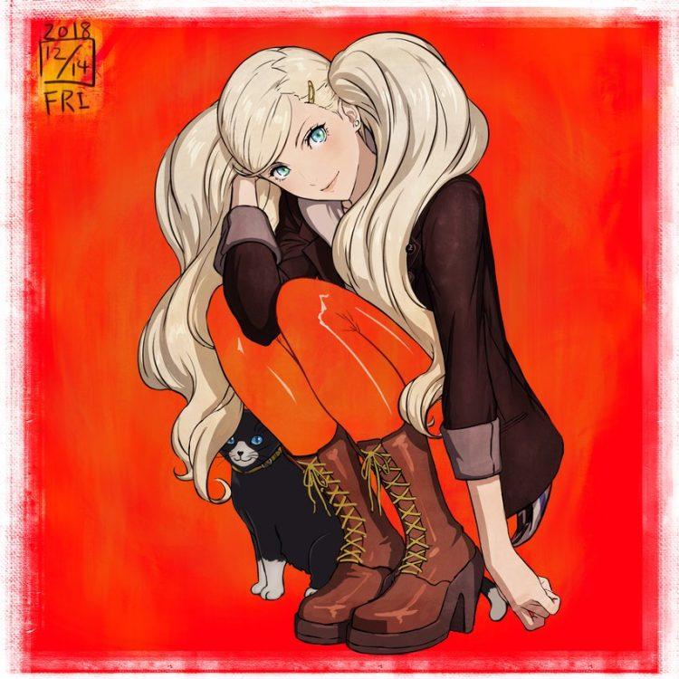 takamaki anne persona82 - 【ペルソナ5】高巻杏(たかまきあん)のエロ画像:イラスト その2